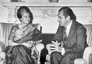 Indira-Nixon meet in Oval Office, 1971.
